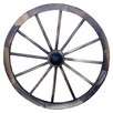 Charred Wagon Twenty-Four Inch Wheel - Leigh Country Garden Statues and Outdoor Accents