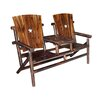 Leigh Country Char-Log Cut Out Star Double Arm Chair I