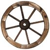 Charred Eighteen Inch Wagon Wheel - Leigh Country Garden Statues and Outdoor Accents
