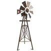 Foster Six Feet Fleur De Lis Tripod Windmill - Leigh Country Garden Statues and Outdoor Accents