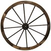 Charred Wagon Wheel Wall Decor - Size: 30 inch High x 30 inch Wide - Leigh Country Garden Statues and Outdoor Accents