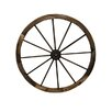Charred Wagon Wheel Wall Decor - Size: 36 inch High x 36 inch Wide - Leigh Country Garden Statues and Outdoor Accents