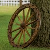 Charred Deluxe Wagon Wheel Wall Decor - Leigh Country Garden Statues and Outdoor Accents