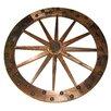 Deluxe Wagon Wheel Garden Art - Leigh Country Garden Statues and Outdoor Accents