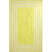 nuLOOM Block Yellow Island Klauss Faux Area Rug