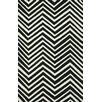 nuLOOM Heritage Black/White Chevron Area Rug