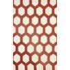 nuLOOM Europe Red/White Tianna Area Rug