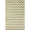 nuLOOM Posh Chevron Hand Tufted Silver Area Rug