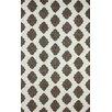 nuLOOM Heritage Ravi Dark Grey/White Geometric Area Rug