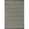 nuLOOM Kinder Chevron Ivory/Black Area Rug