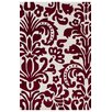 nuLOOM Cine Red Modern Damask Area Rug