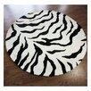 nuLOOM Zebra Print Black Area Rug