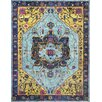 nuLOOM Janella Blue/Gold Area Rug
