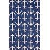 nuLOOM Layne Navy Ahoy Indoor/Outdoor Area Rug