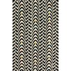 nuLOOM Fancy Black/White Techno Wave Area Rug