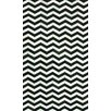nuLOOM Hides Black Waves Chevron Area Rug