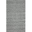 nuLOOM Brilliance Grey/White Chevon Area Rug