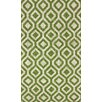 nuLOOM Flatweave Green Espallier Area Rug