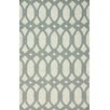 nuLOOM Flatweave Light Grey Twizzle Area Rug
