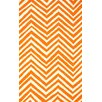 nuLOOM Veranda Orange Chevron Area Rug