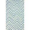 nuLOOM Veranda Light Blue Chevron Area Rug