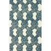 nuLOOM Goodwin White & Blue Sandra Area Rug