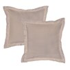 Pointehaven Dobby 525 Thread Count Pima Cotton Euro Sham (Set of 2)