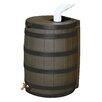 Good Ideas Rain Wizard 50 Gallon Rain Barrel with Darkened Ribs