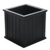 Cape Cod Self-Watering Plastic Planter Box - Size: 24 inch x 11 inch, Color: Black - Mayne Inc. Planters