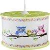 Elobra Owl Family 1 Light Drum Pendant
