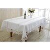 Violet Linen Glory Embroidered Oblong / Rectangle Tablecloth