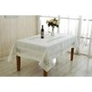 Violet Linen Versalies Embroidered Oblong / Rectangle Tablecloth