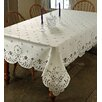 Violet Linen Daisy Tablecloth