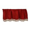 Violet Linen Luxurious Chenille Abstract Curtain Valance