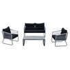 DG Casa Coronado 4 Piece Seating Group with Cushions