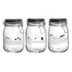 Global Amici Oxford 30 Quart Assorted Hermetic Preserving Jar (Set of 3)