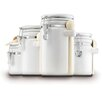 Anchor Hocking 4-Piece Ceramic Canister Set with Lids
