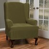 Maytex Collin Stretch T-Cushion Wing Chair Slipcover