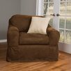 Maytex Piped Suede Separate Seat Armchair Slipcover