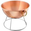 Mauviel M'passion Large Copper Beating Bowl with Bronze Ring Handle