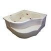 """American Acrylic 60"""" x 60"""" Whirlpool Bathtub"""