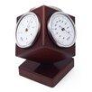 """Fischer Barometer Wetterstation """"Kubus"""" mit Thermometer, Barometer und  Hygrometer"""