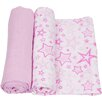 Miracle Blanket Stars 2 Piece Swaddle Blanket Set