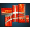 Acura Rugs Victory 5 Piece Original Painting on Wrapped Canvas Set
