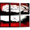 Acura Rugs Sunlight 6 Piece Original Painting on Wrapped Canvas Set