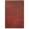 Acura Rugs Contempo Brown/Red Area Rug