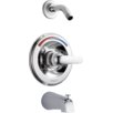 Delta Pressure Balance Tub and Shower Faucet Trim with Metal Lever Handle