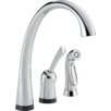 Delta Pilar Single Handle Deck Mounted Kitchen Faucet with Spray