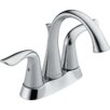 Delta Lahara Two Handle Centerset Lavatory Faucet with Pop-Up Drain