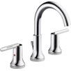Delta Trinsic® Two Handle Widespread Lavatory Faucet with Metal Pop-up